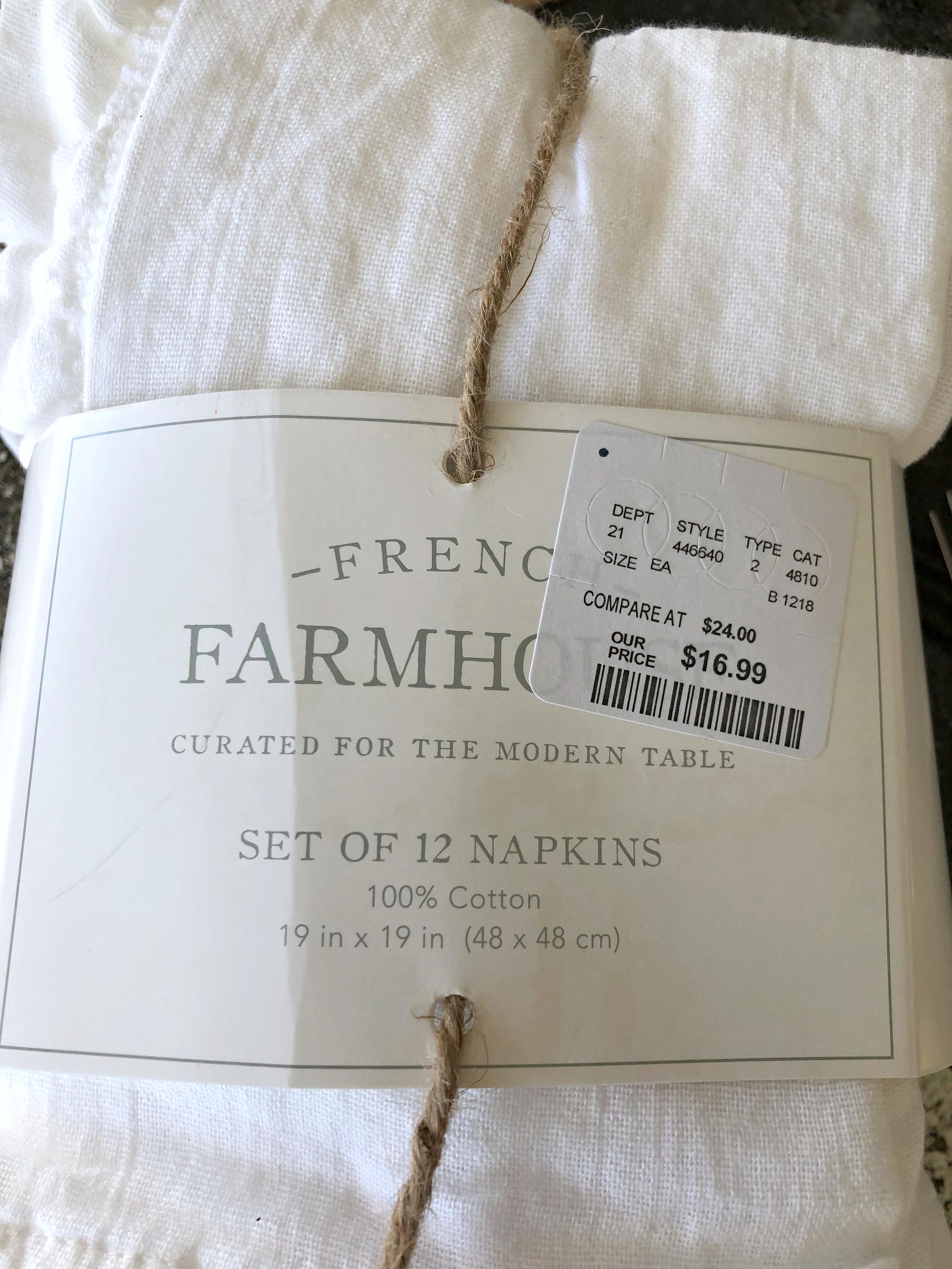Favorites Friday French Farmhouse Napkins My Retired Life On The Prairie